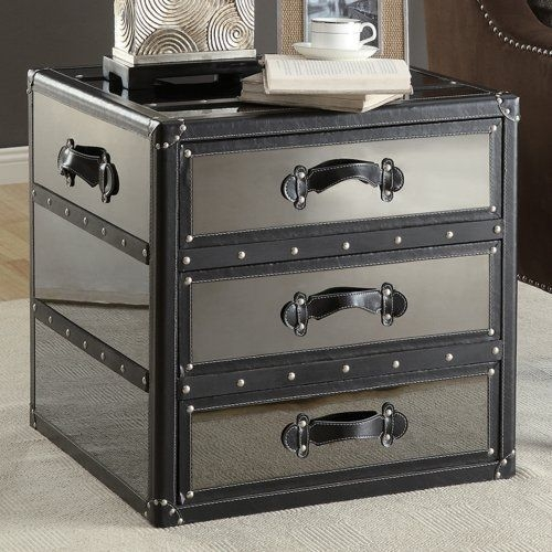 Storage Trunk End Table