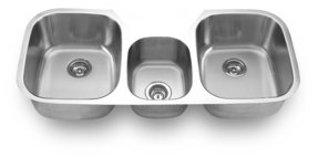 Triple bowl undermount sink 1