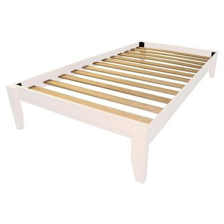 Twin solid bamboo all wood platform bed frame choose finish