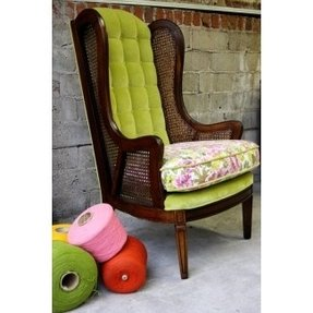 Vintage High Back Chair Foter