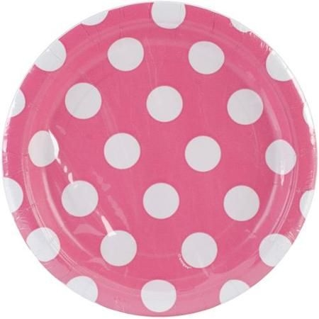 Unique Industries PKPLT7-37484 7-Inch Round Plate Hot Pink Decorative Dots  sc 1 st  Foter & Decorative Plates For Kitchen - Foter