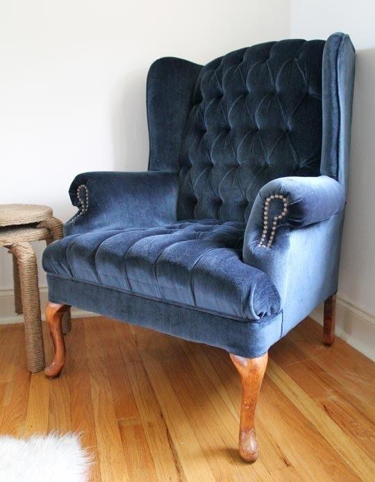 Merveilleux Velvet Wingback Chair