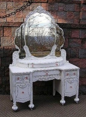 Antique White Vanity Table Foter