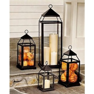 Wall lanterns indoor candles