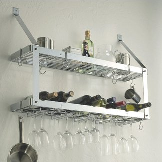 Wall Mounted Wine Gl Rack Shelf