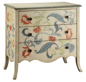 Hand Painted Accent Chest Foter