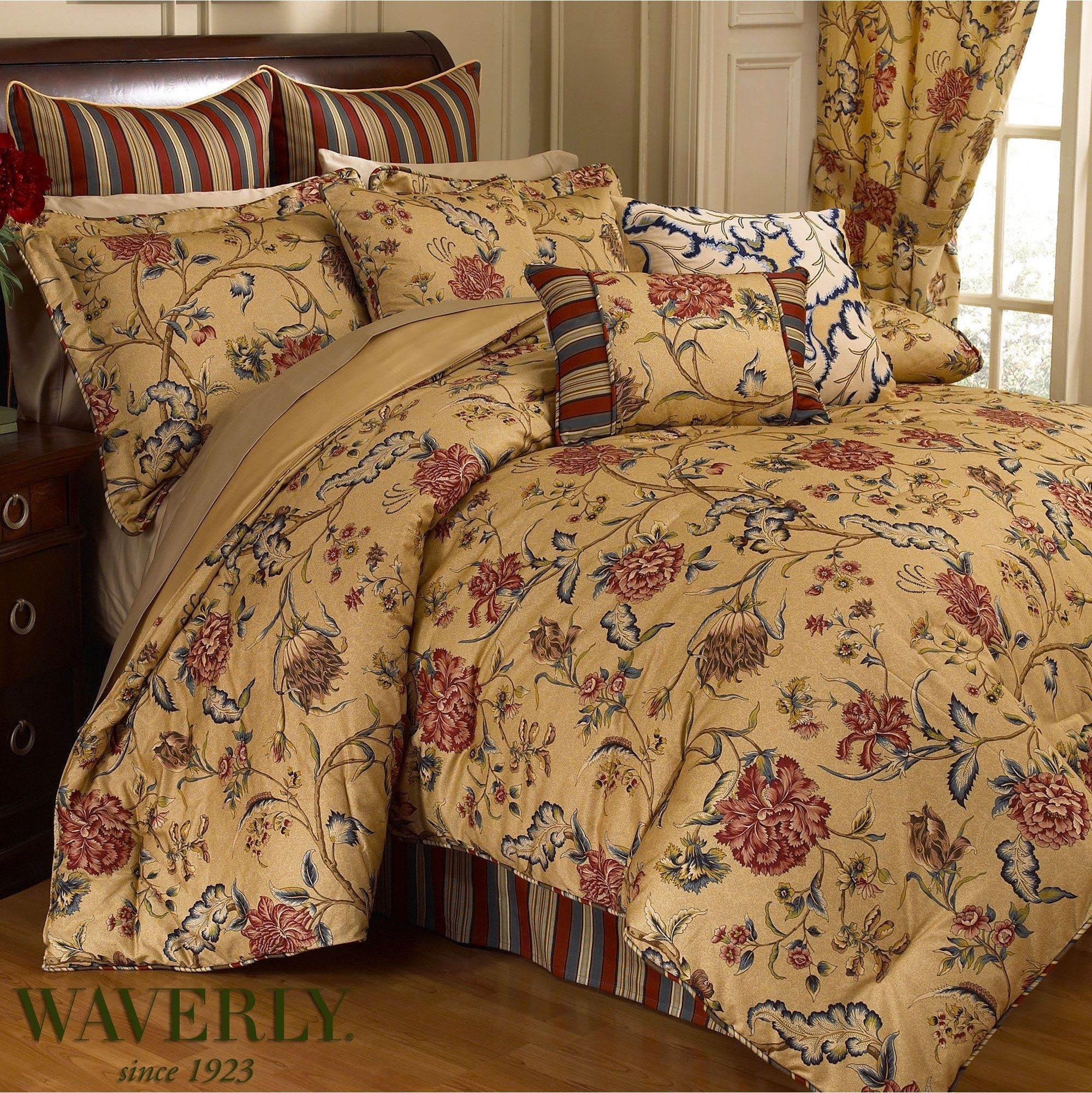 Waverly Spice Of Life Comforter Set King Bedding French Country Cottage Floral