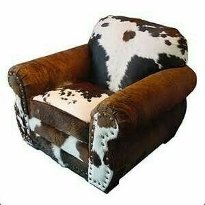 What A Great Value This Cowhide And Leather Chair And