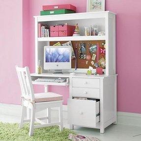 white desk with hutch. White Kids Desk With Hutch