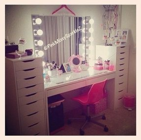 White makeup vanities