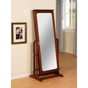 Floor Standing Mirror Jewelry Armoire - Foter