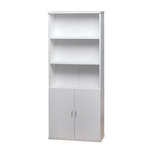 White Wooden Bookcase Storage Cabinet Shelf Cupboard With 5 Shelves