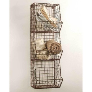 Wire fruit basket wall mount