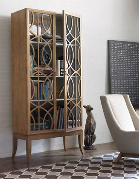 Wooden bookcases with doors 4