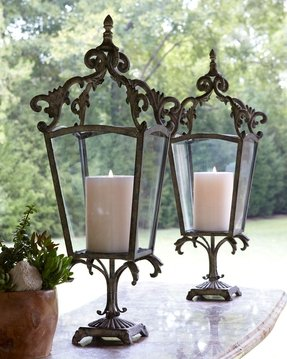 Wrought iron candle lanterns 9
