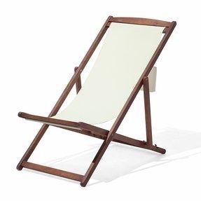 Yellow White Wooden Beach Chair Pillow