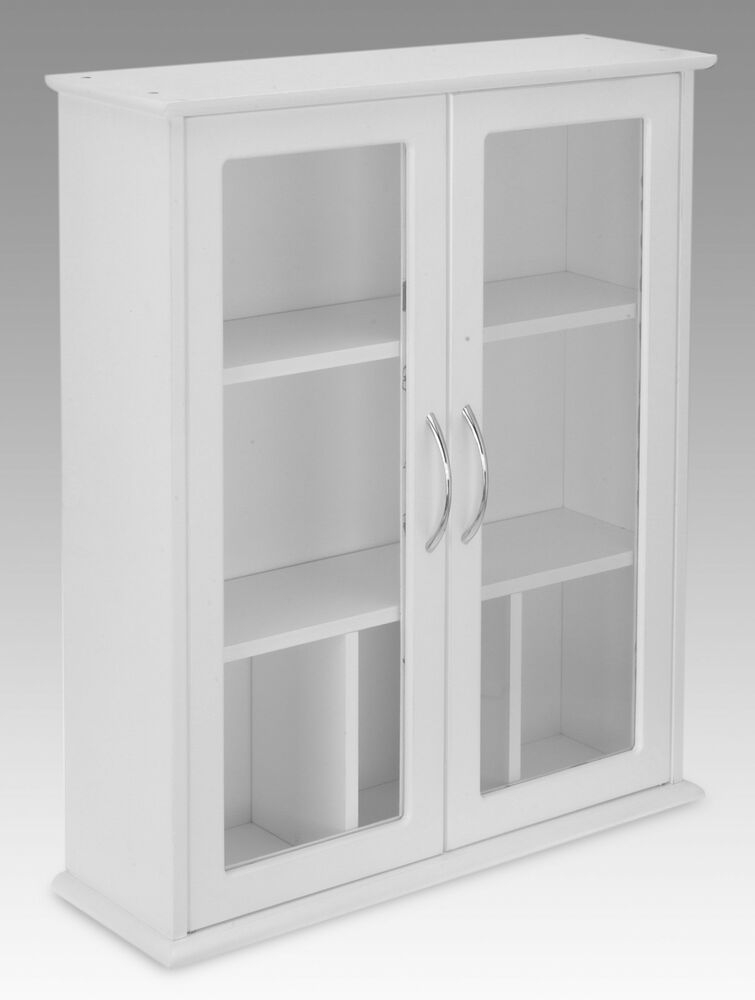 Beau About White 2 Door Wall Mounted Bathroom Cabinet With Glass