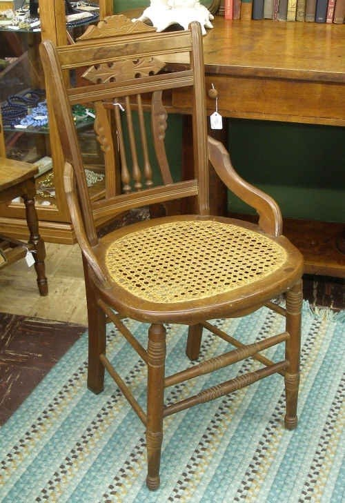 Etonnant Antique Cane Chair 1