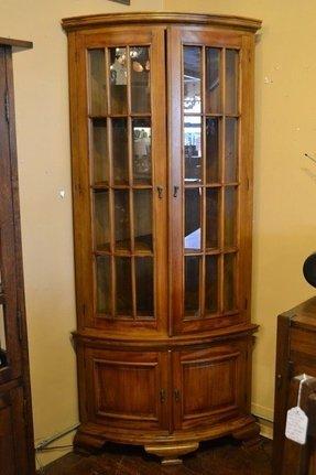 corner oak china cabinet foter. Black Bedroom Furniture Sets. Home Design Ideas