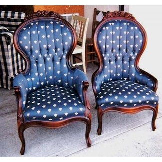 Antique king and queen chairs