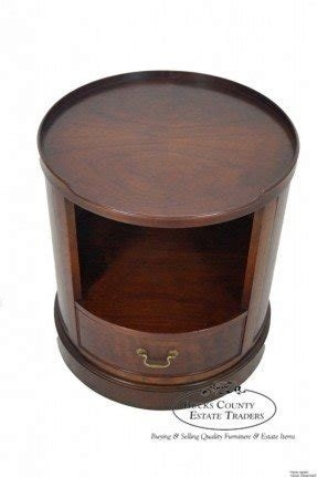 Round Drum End Table Ideas On Foter