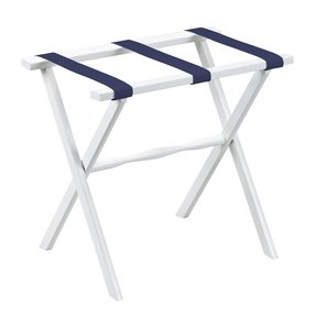 Be our guest marden luggage rack in white