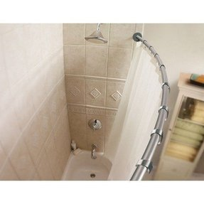 C Shaped Shower Curtain Rod