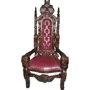 Carved mahogany arm chair 13