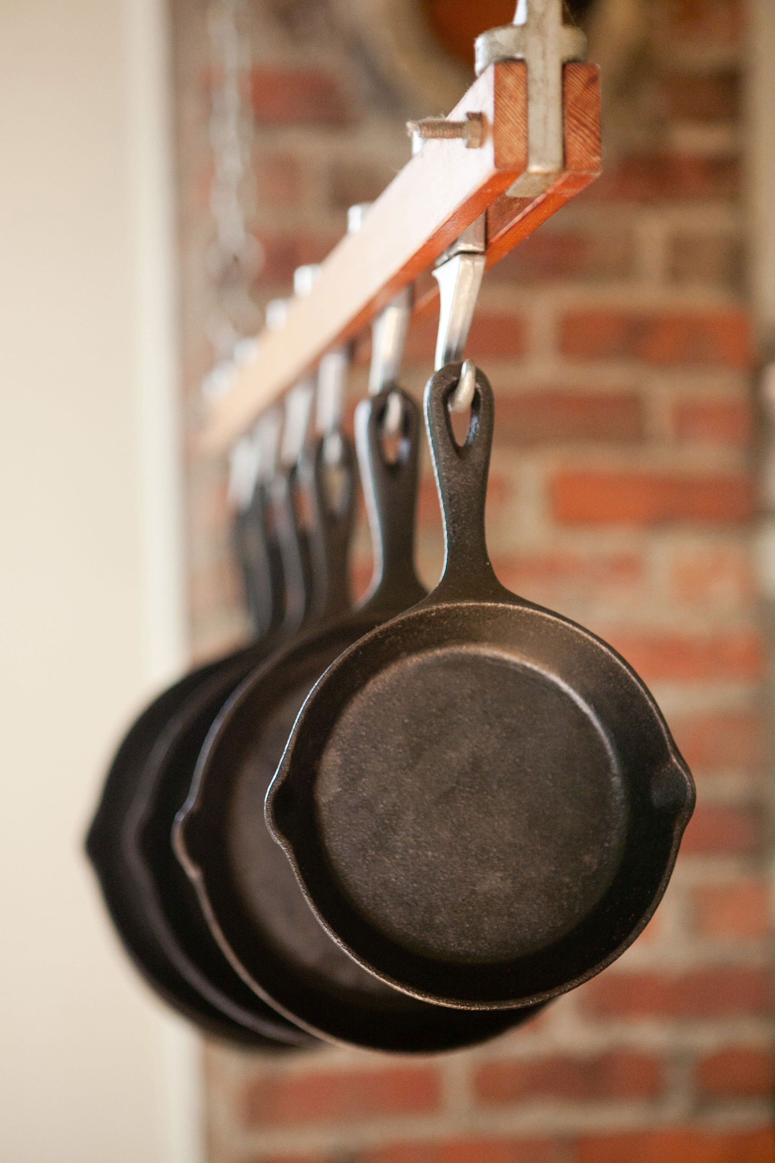 Cast iron hanging pot rack