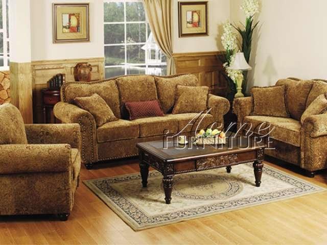 Beau Chenille Living Room Furniture 9