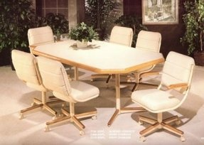 Chromcraft dinette chairs 5