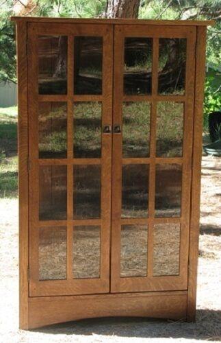 Corner China Cabinet Mission Oak Furniture Hutch Case