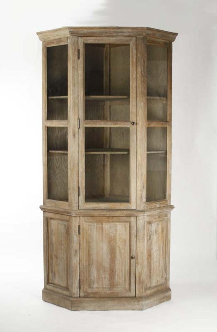 Corner Oak China Cabinet