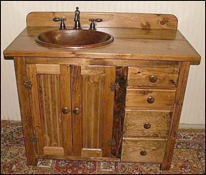 Country Bathroom Vanity Country Pine Bathroom Vanity With Hammered