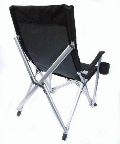 Deluxe Heavy Duty Folding Lawn Chair Black 3