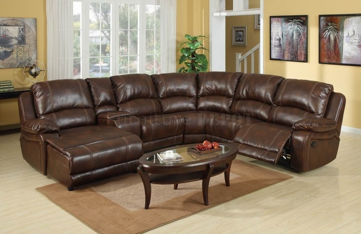 Elegant Collections Of Leather Sectional Sofas With Recliners