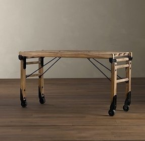 Folding luggage rack wood 7