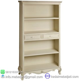 French white bookcase