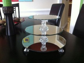 Glass mirror tray