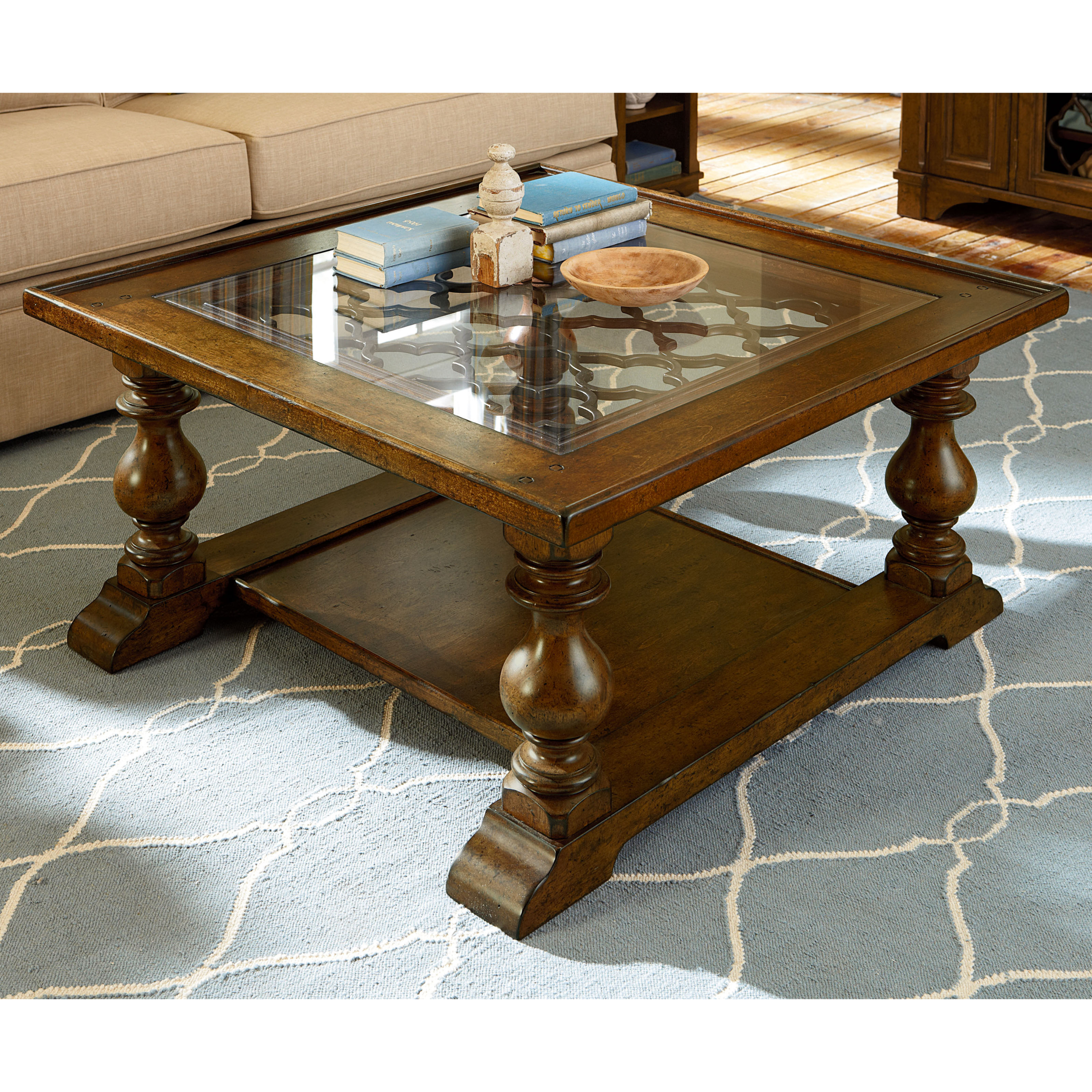Oak Coffee Table With Glass Top Foter