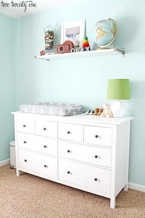 Ikea chest of drawers changing table