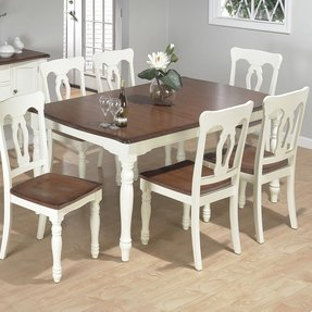 Jofran 630 72 rectangle butterfly leaf dining table vanilla cream