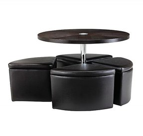 Round Coffee Table With Storage Ottomans Ideas On Foter