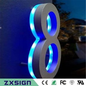 Led house numbers signage apartment number signs contemporary house numbers