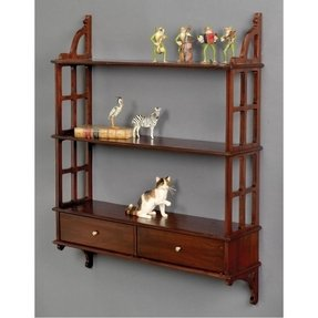 mahogany wall shelf 2 - Mahogany Bookshelves