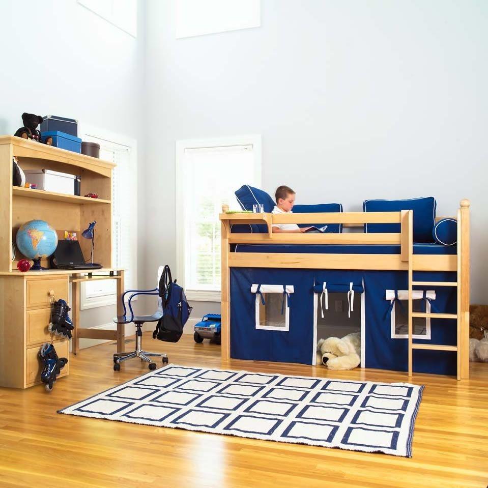 Maxtrix kids twin mansion low loft bed 1 & Short Loft Beds - Foter