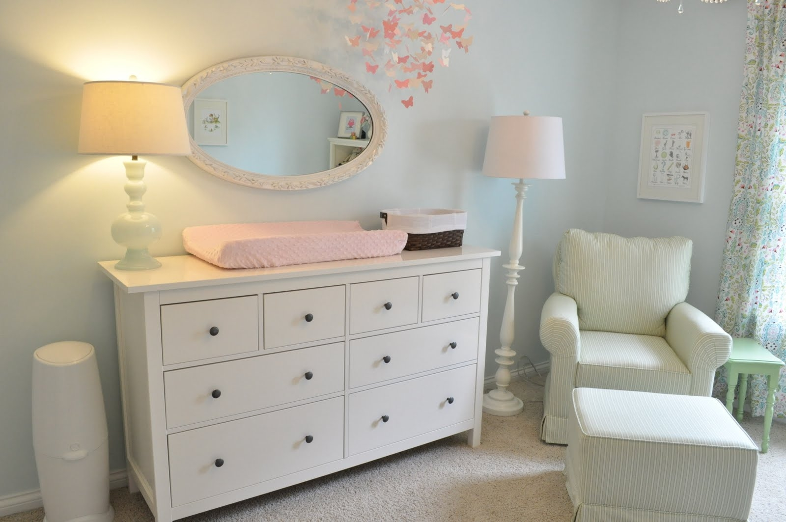 Mirrored Changing Table