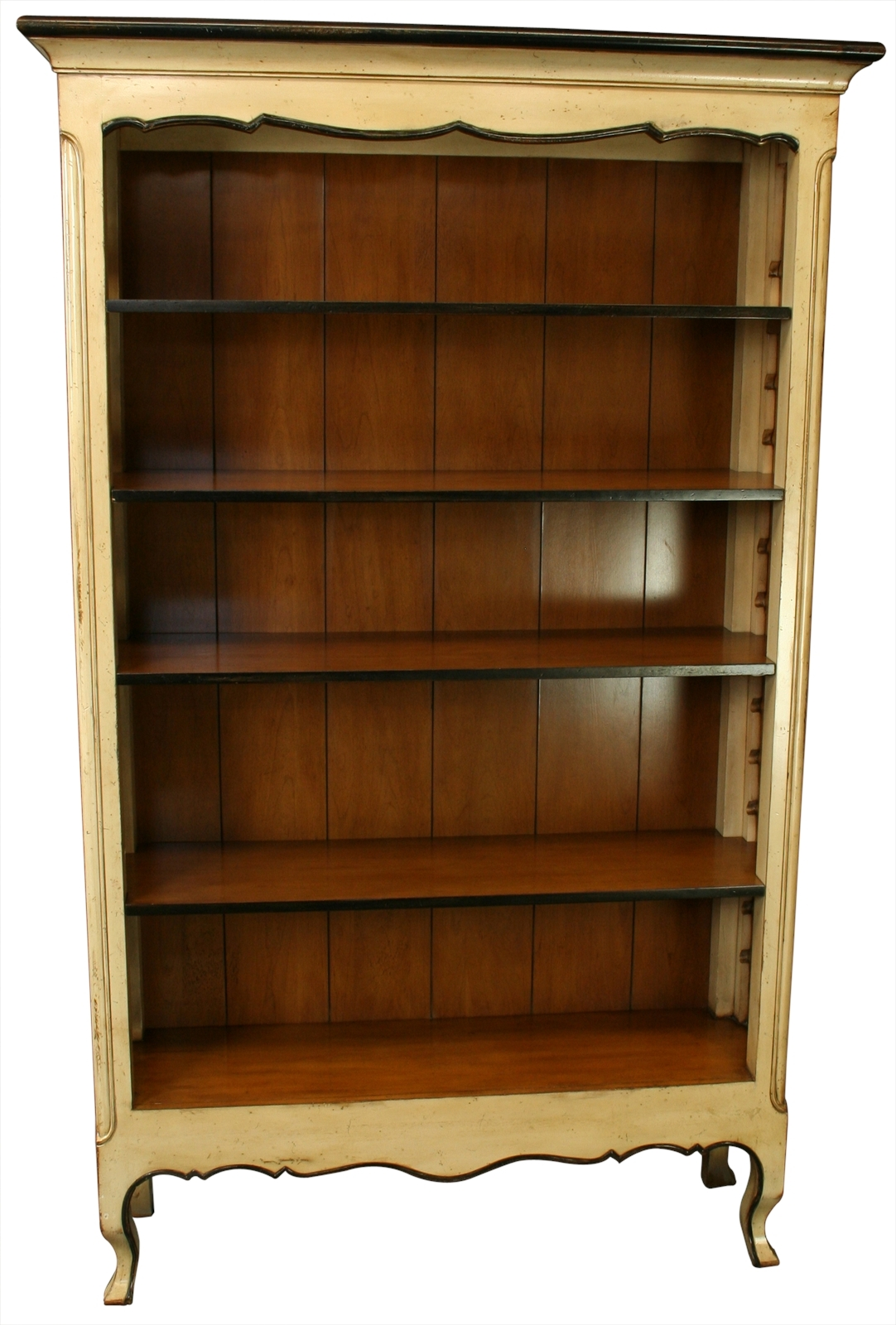 New French Country Bookcase In Cherry Maple Adjustable Shelves