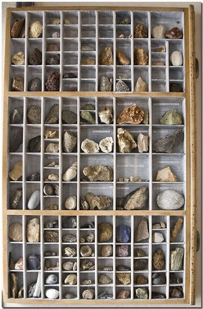 Old display cases
