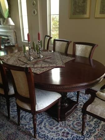 Oval dining table set for 6 : oval kitchen table set - pezcame.com